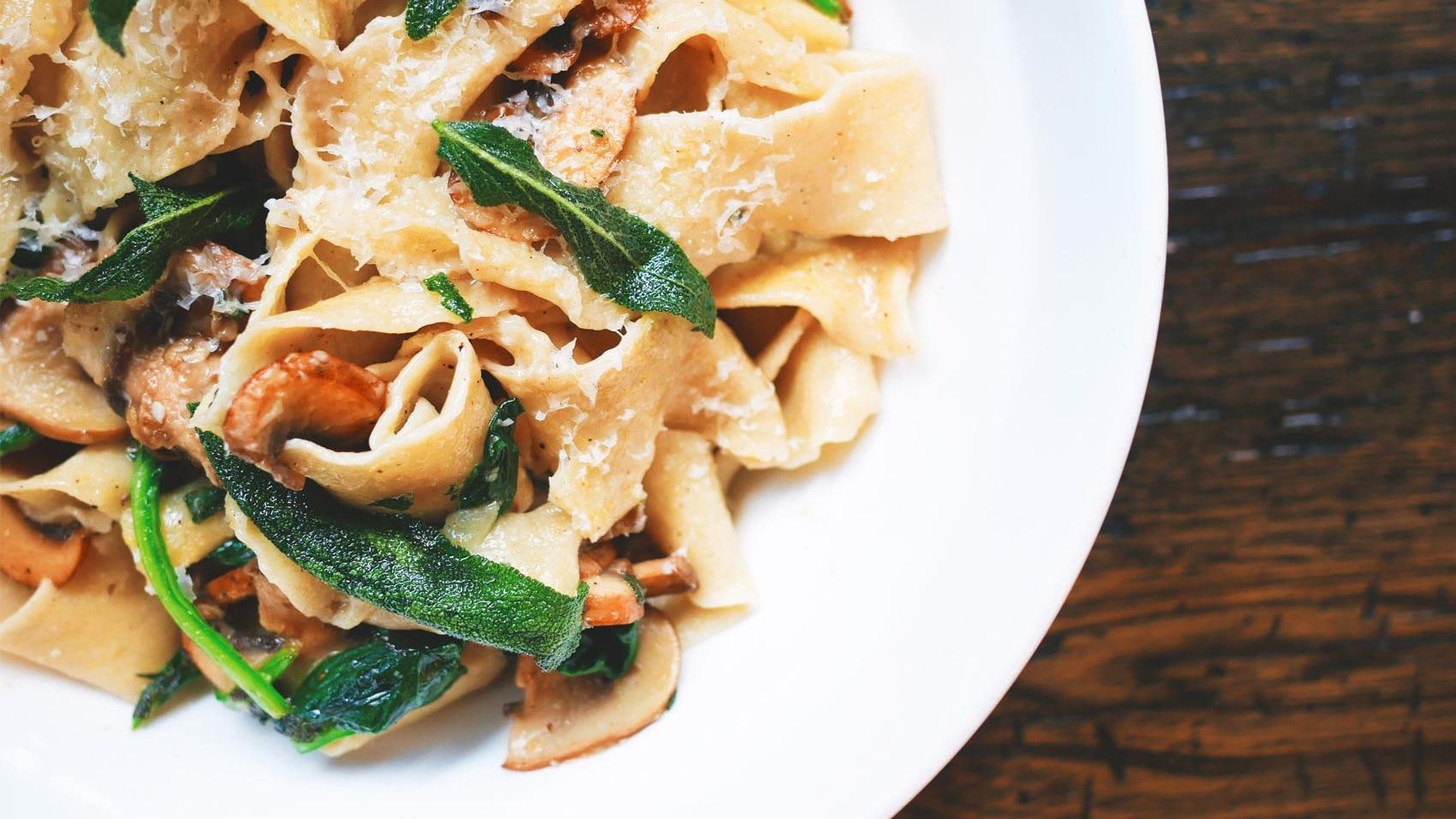 nittonarton food tagliatelle mushrooms