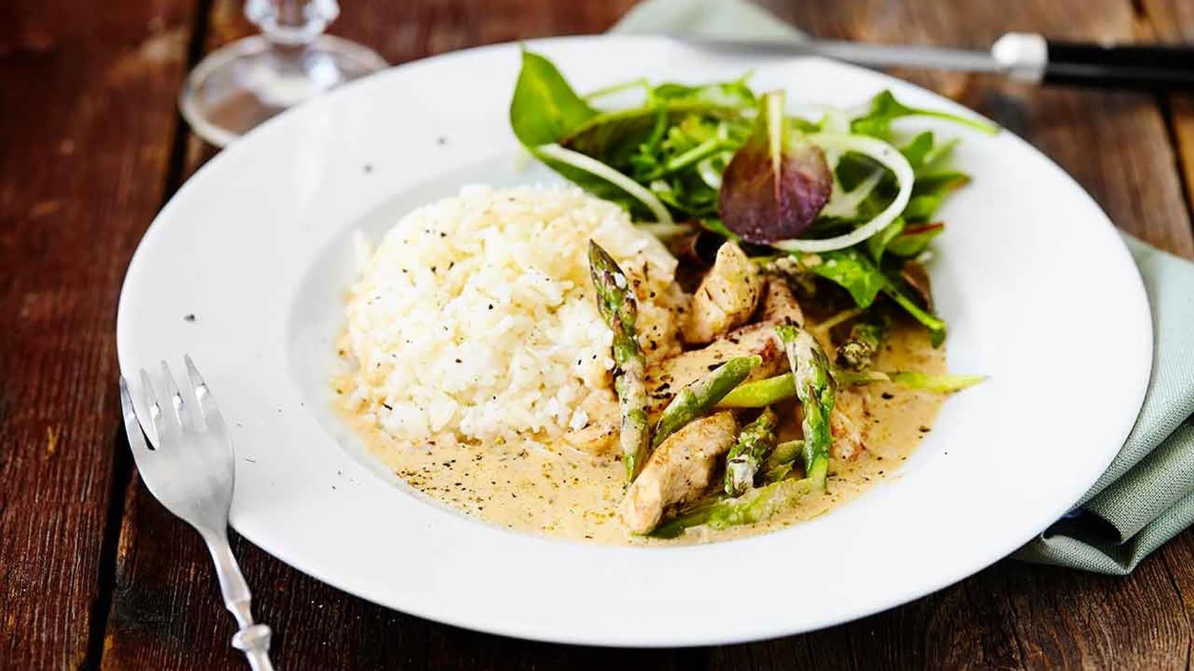 nittonarton chicken asparagus